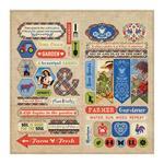 """Elements Cardstock Die-Cut Sheet 12""""X12"""" - Cultivate - Authentique"""
