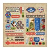 "Elements Cardstock Die-Cut Sheet 12""X12"" - Cultivate - Authentique"