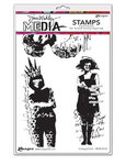 Collaged Girls Cling Stamps 6 x 9 - Ranger - Dina Wakley Media