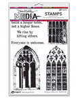 Everyone Is Welcome Cling Stamps 6 x 9 - Ranger - Dina Wakley Media