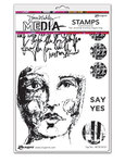 Say Yes Cling Stamps 6 x 9 - Ranger - Dina Wakley Media