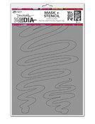 """Meandering Stencils + Masks 6""""X9"""" - Ranger - Dina Wakley Media"""