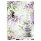 NR. 28 - Jenine's Mindful Art Time To Relax Rice Paper Sheet A4 - Studio Light - PRE ORDER