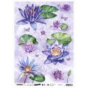 NR. 33 - Jenine's Mindful Art Time To Relax Rice Paper Sheet A4 - Studio Light - PRE ORDER