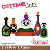 """Spell Books & Potions 4.4""""X2.5"""" Dies - Cottage Cutz"""