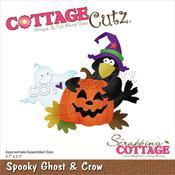 "Spooky Ghost & Crow 3.7""X3.1"" Dies - Cottage Cutz"