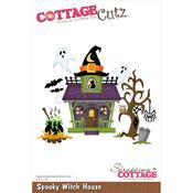 "Spooky Witch House 4.6""X3.8"" Dies - Cottage Cutz"