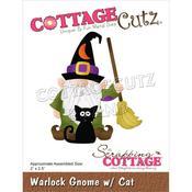 """Warlock Gnome W/Cat 2""""X2.5"""" Dies - Cottage Cutz"""