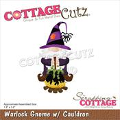 "Warlock Gnome W/Cauldron 1.8""X3.6"" Dies - Cottage Cutz"