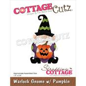"Warlock Gnome W/Pumpkin 1.5""X2.6"" Dies - Cottage Cutz"