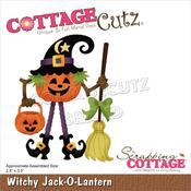 "Witchy Jack-O-Lantern 2.8""X3.5"" Dies - Cottage Cutz"