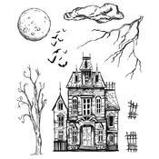 Sketch Manor Cling Stamp 7 x 8.5 - Tim Holtz