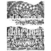 Renaissance Cling Stamp 7 x 8.5 - Tim Holtz - PRE ORDER