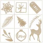 Whimsy Wishes Wood Mini Themed Embellishments - KaiserCraft