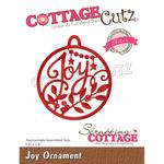 "Joy Ornament 2.5""X2.8"" Elites Die Dies - Cottage Cutz"