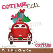 "Mr & Mrs Claus Car 2.3""X3.4"" Dies - Cottage Cutz"