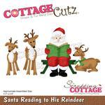 "Santa Reading To His Reindeer 3.3""X2.9"" Dies - Cottage Cutz"