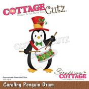 "Caroling Penguin Drum 1.9""X2.8"" Dies - Cottage Cutz"