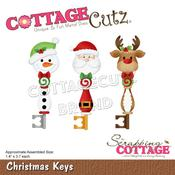 "Christmas Keys 1.4""X3.7"" Dies - Cottage Cutz"