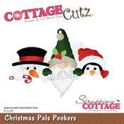 "Christmas Pals Peekers 4""X2.8"" Dies - Cottage Cutz"