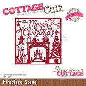 "Fireplace Scene 3.7""X3.7"" Elites Dies - Cottage Cutz"