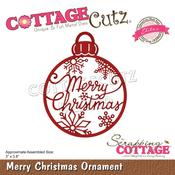 "Merry Christmas Ornament 3""X3.8"" Elites Dies - Cottage Cutz"