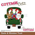 """Santa & Reindeer Truck 2.6""""X2.9"""" Dies - Cottage Cutz"""
