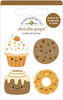 Fall Treats Doodle-pops - Doodlebug Introducing Doodle Pops, dimensional die cut stickers! The perfect pop of whimsy and delight, these colorful cardstock stickers are a great addition to any card, tag or gift.  Re-positional adhesive. Sticker size approx. 1.875 inches  x 1.75 inches .