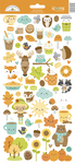 Pumpkin Spice Icons Sticker Sheet - Doodlebug - PRE ORDER