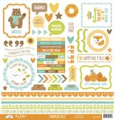 Pumpkin Spice This & That Sticker Sheet - Doodlebug