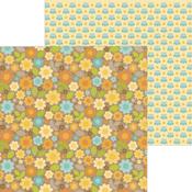 Sunflower Fields Paper - Pumpkin Spice - Doodlebug