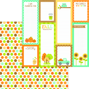 Harvest Berries Paper - Pumpkin Spice - Doodlebug
