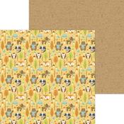 Forest Of Friends Paper - Pumpkin Spice - Doodlebug