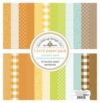 Pumpkin Spice 12 x 12 Petite Print Paper Pack - Doodlebug