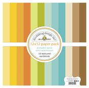Pumpkin Spice 12 x 12 Textured Cardstock Paper Pack - Doodlebug