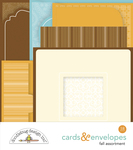 Fall Assortment Cards & Envelopes - Doodlebug