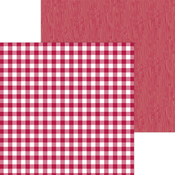 Ruby Buffalo Check & Wood Grain Paper - Doodlebug