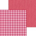 Ladybug Buffalo Check & Wood Grain Paper - Doodlebug