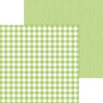 Limeade Buffalo Check & Wood Grain Paper - Doodlebug