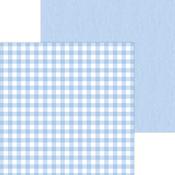 Bubble Blue Buffalo Check & Wood Grain Paper - Doodlebug