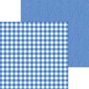 Blue Jean Buffalo Check & Wood Grain Paper - Doodlebug