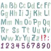Bold Brush Alphabet - Sizzix Thinlits Die