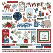 Winter Memories Element Sticker Sheet - Photoplay  - PRE ORDER