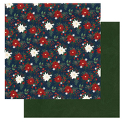 Poinsettias Paper - Winter Memories - Photoplay  - PRE ORDER
