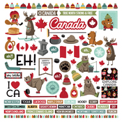 O Canada 2 Element Sticker Sheet - Photoplay