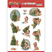 Christmas Tree Punchout Sheet - Christmas Pets - Find It Trading - PRE ORDER
