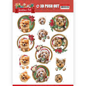 Christmas Dogs Punchout Sheet - Christmas Pets - Find It Trading - PRE ORDER