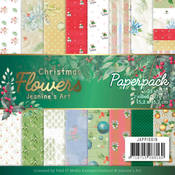 """Christmas Classics Paper Pack 6"""" X 6"""" - Christmas Flowers - Find It Trading"""