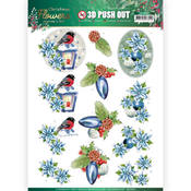 Christmas Lantern Punchout Sheet - Christmas Flowers - Find It Trading - PRE ORDER
