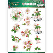 Pink Christmas Flowers Punchout Sheet - Christmas Flowers - Find It Trading - PRE ORDER